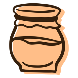 Tarro de mermelada dibujado a mano