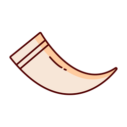 Ilustración de cuerno animal de línea