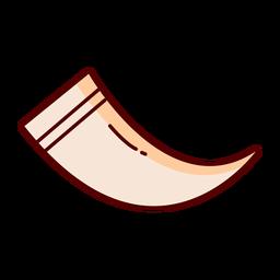 Ilustración de cuerno de animal de línea