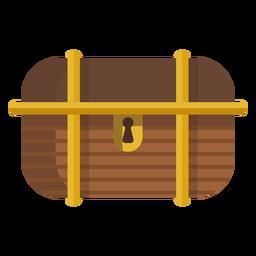 Ilustración de caja de tesoro bloqueada