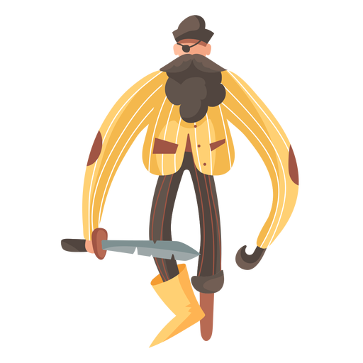 Long arms pirate standing Transparent PNG