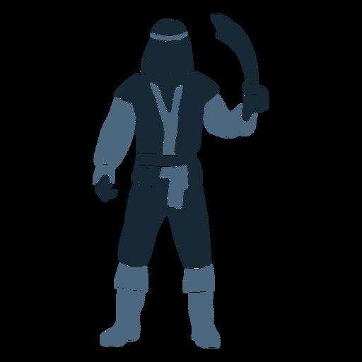 Male pirate cutlass standing posing blue duotone Transparent PNG