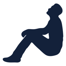Male praying lean back silhouette