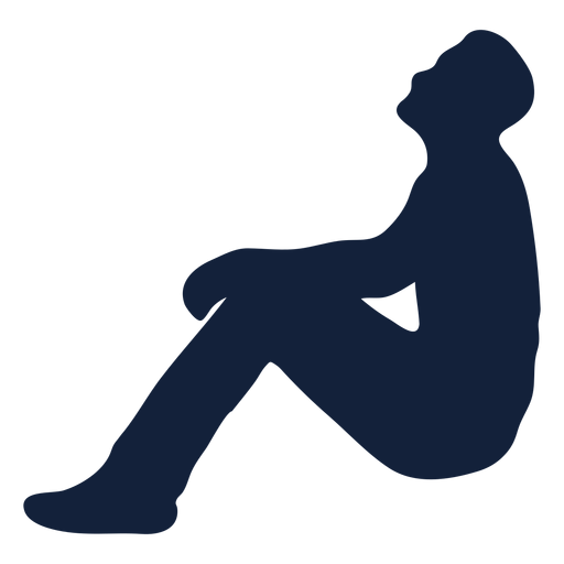 Male praying lean back silhouette Transparent PNG