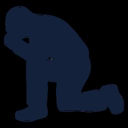 Homem orando, silueta
