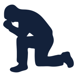 Man praying silhouette