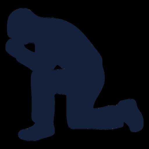 Man praying silhouette Transparent PNG