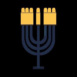 Icono de velas de menorá plano