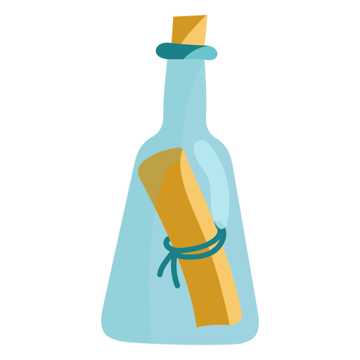 Message in a blue bottle icon
