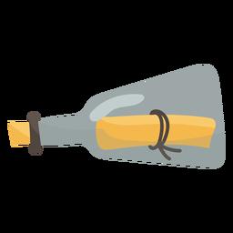 Mensaje en un icono lateral de botella