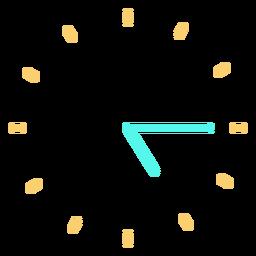 Icono de reloj minimalista
