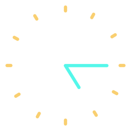 Minimalist clock icon