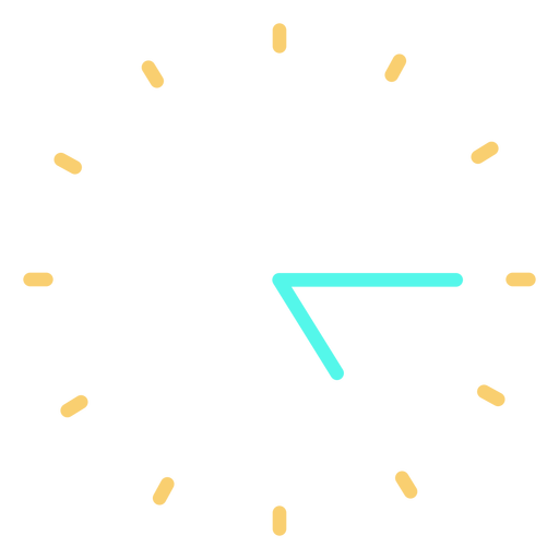 Icono de reloj minimalista Transparent PNG