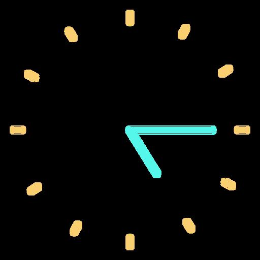 Minimalist clock icon Transparent PNG