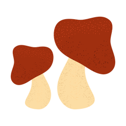 Mushroom textured illustration