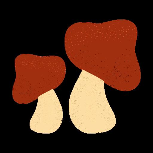 Mushroom textured illustration