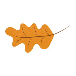 Ilustração texturizada de folha de carvalho
