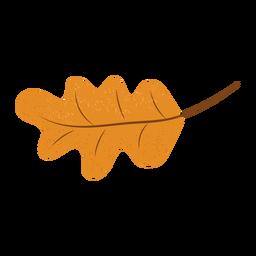 Ilustración con textura de hoja de roble