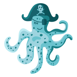 Octopus pirate hat eyepatch