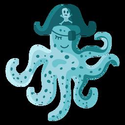 Tapa-olho de chapéu de pirata de polvo