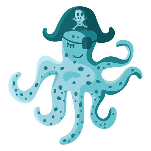 Octopus pirate hat eyepatch Transparent PNG