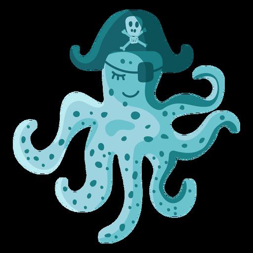 Parche de sombrero de pirata pulpo