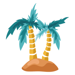 Palm tree island illustration