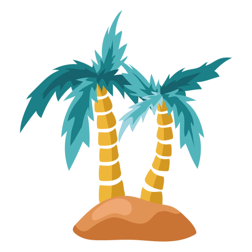 Palm tree island illustration Transparent PNG