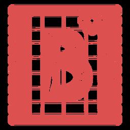 Papel picado letra maiúscula b
