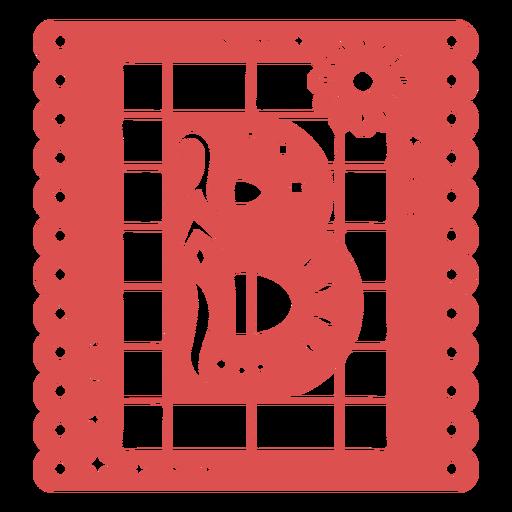 Papel picado capital letter b