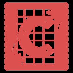 Papel Picado Großbuchstabe c