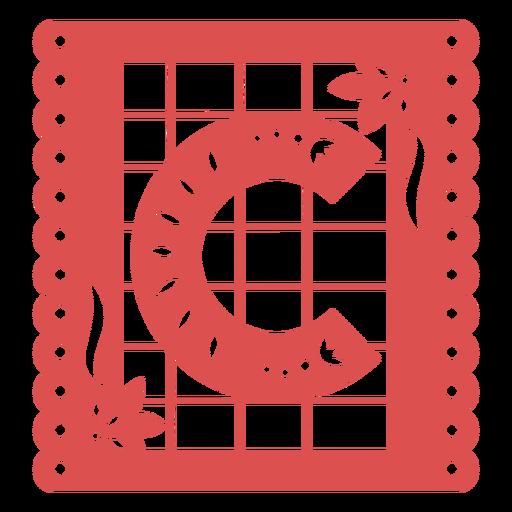 Papel picado capital letter c Transparent PNG