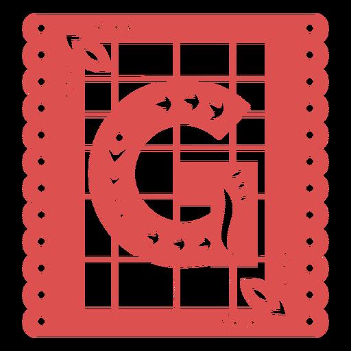 Papel picado capital letter g Transparent PNG