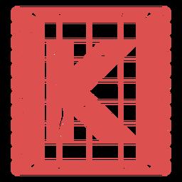 Papel Picado Großbuchstabe k