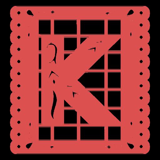Papel picado capital letter k Transparent PNG