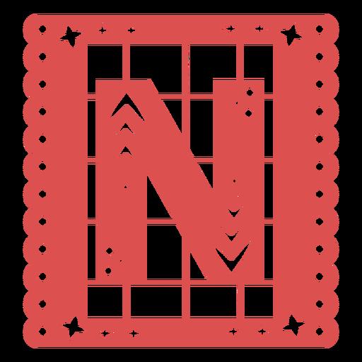 Papel picado capital letter n Transparent PNG