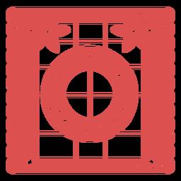 Papel Picado Großbuchstabe o
