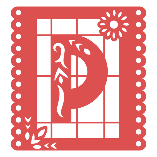 Papel picado capital letter p Transparent PNG