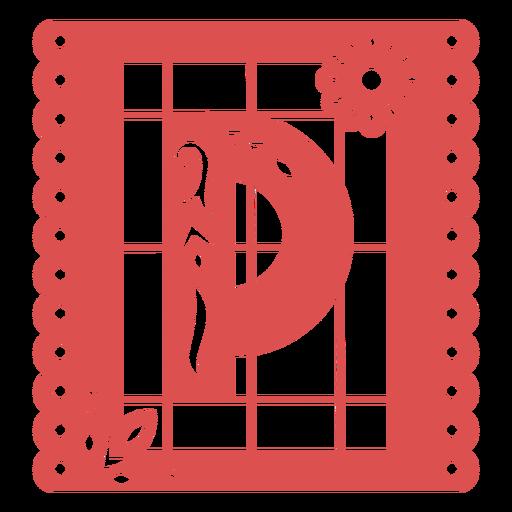 Papel picado capital letter p
