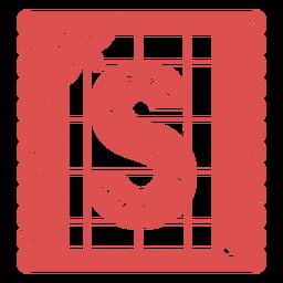 Papel picado letras maiúsculas s