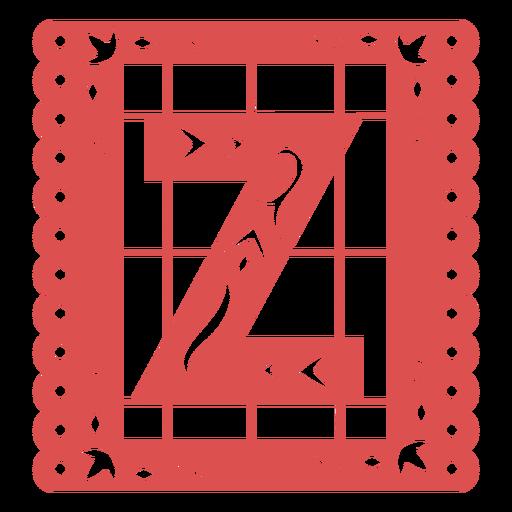 Papel picado capital letter z Transparent PNG
