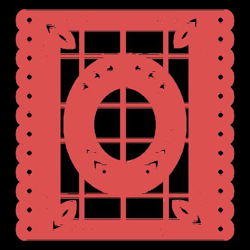 Papel picado number 0 Transparent PNG