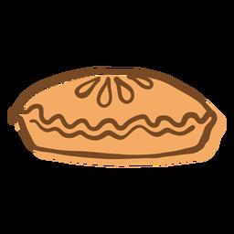 Pie hand drawn stroke