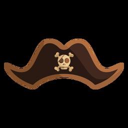 Icono de sombrero de calavera capitán pirata
