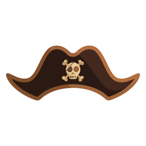 Pirate captain skull hat icon Transparent PNG