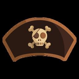 Ilustración de calavera capitán pirata