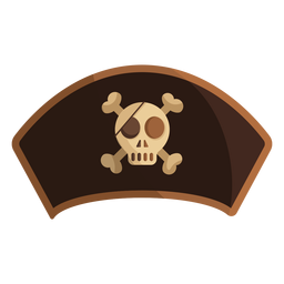 Pirate captain skull illustration