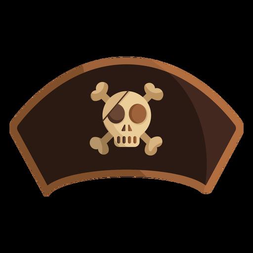 Pirate captain skull illustration