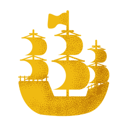 Pirate sail ship icon