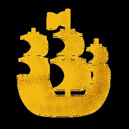 Piraten-Segelschiff-Symbol
